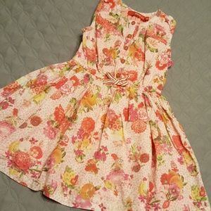 Other - Oilily size 3 button down dress pink, peach, red
